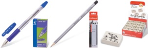 Ручки, карандаши, ластики, точилки