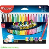 "Фломастеры Maped, ""Color'Peps"", Long Life,  18 цв., карт. упаковка"