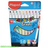 "Фломастеры Maped, ""Color'Peps"", Brush, 10 цв., карт. упаковка"
