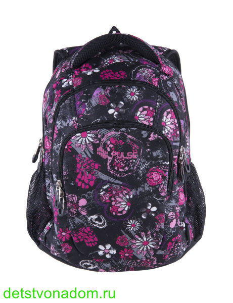 Рюкзак Pulse Teens Black Flower 121440