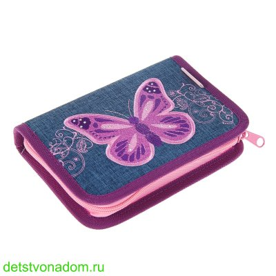 Пенал Belmil Purple Flying Butterfly  без наполнения