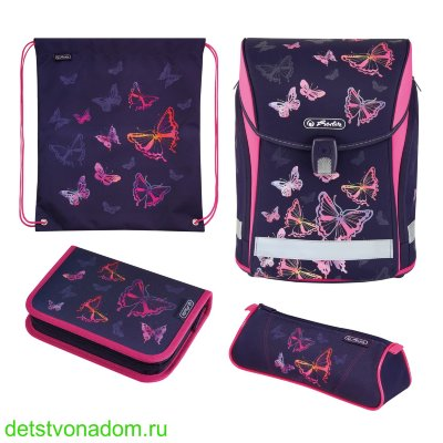 Ранец Herlitz New Midi Rainbow Butterfly с наполнением 50027613