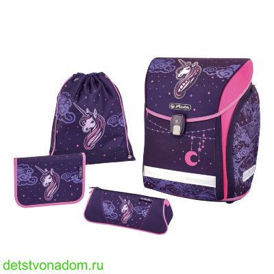 Ранец Herlitz New Midi Unicorn Night с наполнением 50027620
