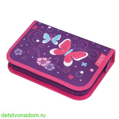 Пенал Herlitz Purple Butterfly 31 предмет 50014293